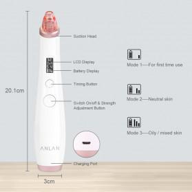 ANLAN BHTYWDF-202 Penghisap Komedo Vacuum Suction Skin Face Care Blackhead Pore Cleaner - ALHTY06-02 - White - 11