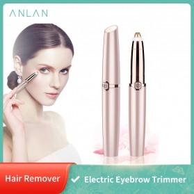 ANLAN Alat Pencukur Alis Electric Portable Eyebrow Shaver - ALXMB03-0R - Rose Gold