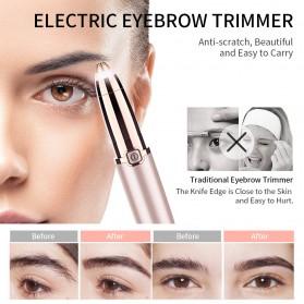 ANLAN Alat Pencukur Alis Electric Portable Eyebrow Shaver - ALXMB03-0R - Rose Gold - 14