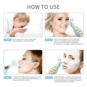 ANLAN Penghisap Komedo Vacuum Suction Skin Face Care Blackhead Pore Cleaner - ALHTY07-06 - Blue - 4
