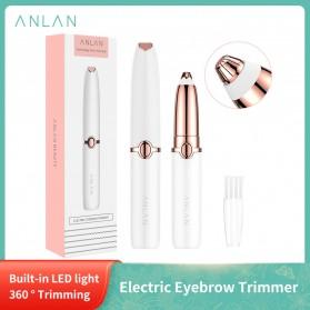 ANLAN XMB06 Alat Pencukur Alis Electric Portable Eyebrow Shaver - ALXMB06-02 - White