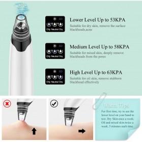 ANLAN HTY08 Penghisap Komedo Vacuum Suction Skin Face Care Blackhead Pore Cleaner - ALHTY08-02 - White - 10