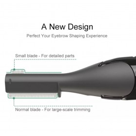 ANLAN XMD01 Alat Pencukur Alis Electric Portable Eyebrow Shaver - ALXMD01-01 - Black - 3