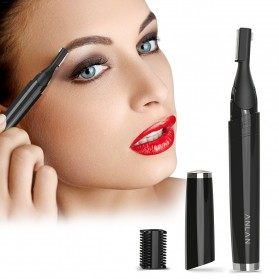 ANLAN XMD01 Alat Pencukur Alis Electric Portable Eyebrow Shaver - ALXMD01-01 - Black - 5