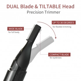 ANLAN XMD01 Alat Pencukur Alis Electric Portable Eyebrow Shaver - ALXMD01-01 - Black - 9