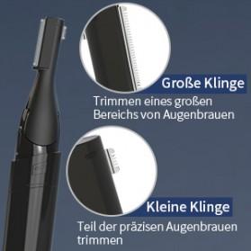 ANLAN XMD01 Alat Pencukur Alis Electric Portable Eyebrow Shaver - ALXMD01-01 - Black - 17