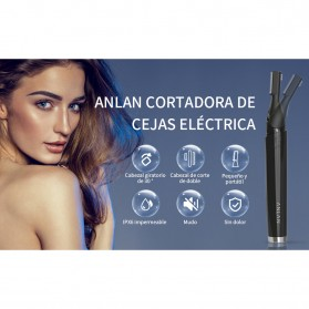 ANLAN XMD01 Alat Pencukur Alis Electric Portable Eyebrow Shaver - ALXMD01-01 - Black - 18