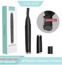 ANLAN XMD01 Alat Pencukur Alis Electric Portable Eyebrow Shaver - ALXMD01-01 - Black - 21