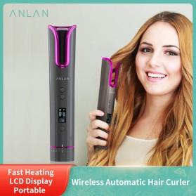 ANLAN MDJ-808 Catok Pengkriting Rambut Portable Wireless Automatic Hair Curler - ALJFQ01-OG - Black