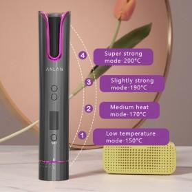 ANLAN MDJ-808 Catok Pengkriting Rambut Portable Wireless Automatic Hair Curler - ALJFQ01-OG - Black - 7