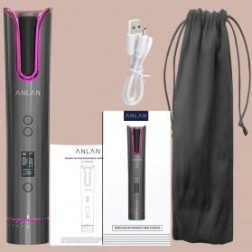ANLAN MDJ-808 Catok Pengkriting Rambut Portable Wireless Automatic Hair Curler - ALJFQ01-OG - Black - 20