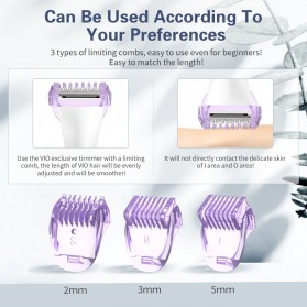 ANLAN LK-383 Alat Cukur Rambut Bulu Halus Electric Portable Hair Shaver - ALTMQ05-OS - White - 5