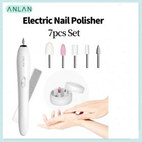 ANLAN MJQ02-02 Alat Perawatan Kuku Manicure Pedicure Electric Nail Polisher - ALMJQ02-02 - White - 1