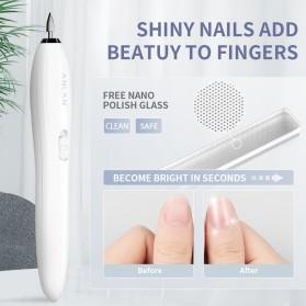 ANLAN MJQ02-02 Alat Perawatan Kuku Manicure Pedicure Electric Nail Polisher - ALMJQ02-02 - White - 2