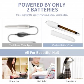 ANLAN MJQ02-02 Alat Perawatan Kuku Manicure Pedicure Electric Nail Polisher - ALMJQ02-02 - White - 7