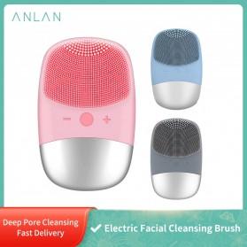 ANLAN DL001 Sikat Pembersih Wajah Sonic Electric Facial Cleansing Brush - ALJMY04-04 - Pink