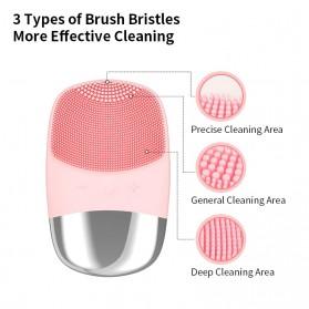 ANLAN DL001 Sikat Pembersih Wajah Sonic Electric Facial Cleansing Brush - ALJMY04-04 - Pink - 4