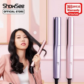 ShowSee Catok Pelurus Rambut Hair Straightening Curling Comb Negative Ion - E2-V/E2-P - Violet - 2