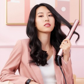 ShowSee Catok Pelurus Rambut Hair Straightening Curling Comb Negative Ion - E2-V/E2-P - Violet - 6