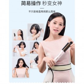 Yueli Sisir Catok Roller Hair Dryer Rambut Elektrik 3 in 1 - HS-503/504 - White