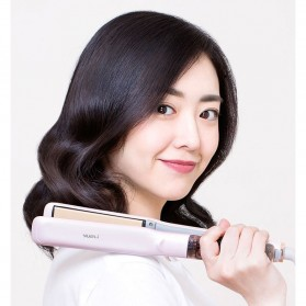 Yueli Catokan Rambut Elektrik Hair Straightener Comb - HS-507/521 - Light Pink