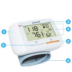 Yuwell Pengukur Tekanan Darah Tensi Electronic Blood Pressure Monitor - YE8900A - White - 9