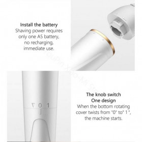 WellSkins Electric Shaver Trimmer Pencukur Bulu Tubuh - WX-TM01 - White - 10