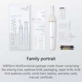 WellSkins Electric Shaver Trimmer Pencukur Bulu Tubuh - WX-TM01 - White - 11