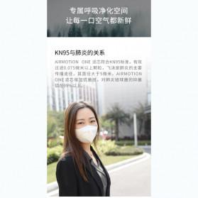 Xiaomi Airmotion One Masker Anti Polusi Virus Corona 1 PCS - KN95 - White - 4