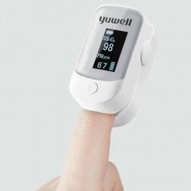Yuwell Alat Pengukur Detak Jantung Kadar Oksigen Fingertip Pulse Oximeter - YX303 - White
