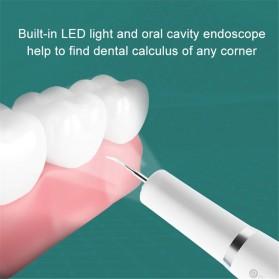 Xiaomi Dr. BEI Pembersih Gigi Ultrasonic Electric Dental Calculus Tartar Remover Teeth Scraper - YC2 - White - 7