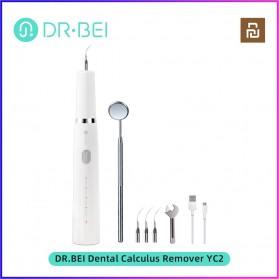 Xiaomi Dr. BEI Pembersih Gigi Ultrasonic Electric Dental Calculus Tartar Remover Teeth Scraper - YC2 - White - 2