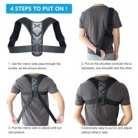 BUBM Tali Korektor Postur Punggung Body Harness Hump Belt Size L - JZD-L - Black - 2