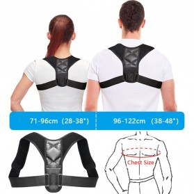BUBM Tali Korektor Postur Punggung Body Harness Hump Belt Size XL - JZD-XL - Black - 4