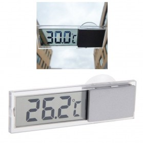 Car Small Temperature Meter with Suction Cup - Transparent