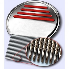 Metal Nit Lice Comb / Sisir Kutu - Silver - 3