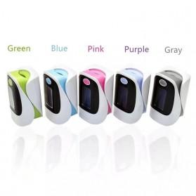 Fingertip Pulse Oximeter Alat Pengukur Detak Jantung Kadar Oksigen - White - 3
