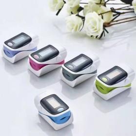Fingertip Pulse Oximeter Alat Pengukur Detak Jantung Kadar Oksigen - White - 5