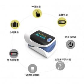 Fingertip Pulse Oximeter Alat Pengukur Detak Jantung Kadar Oksigen - White - 7