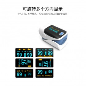 Fingertip Pulse Oximeter Alat Pengukur Detak Jantung Kadar Oksigen - White - 8