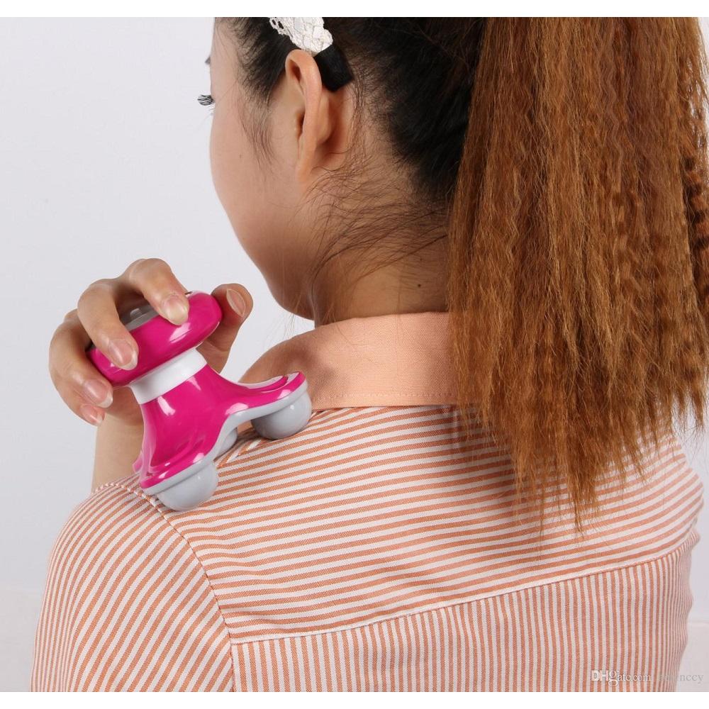 Triangle Mini Vibration Massager / Alat Pijit - Pink - 5