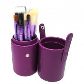 Kuas Make Up 12 Set dengan Case - MAG5171 - Purple - 3