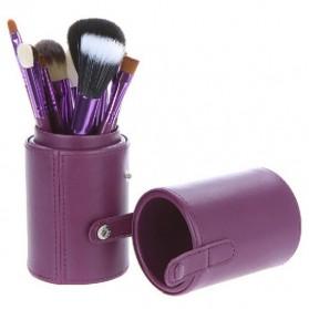 Kuas Make Up 12 Set dengan Case - MAG5171 - Purple - 4