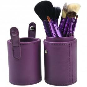 Kuas Make Up 12 Set dengan Case - MAG5171 - Purple - 5