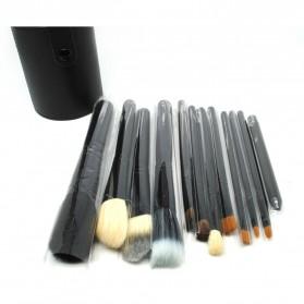 Kuas Make Up 12 Set dengan Case - MAG5171 - Black - 2