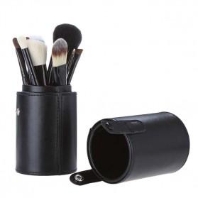 Kuas Make Up 12 Set dengan Case - MAG5171 - Black - 4