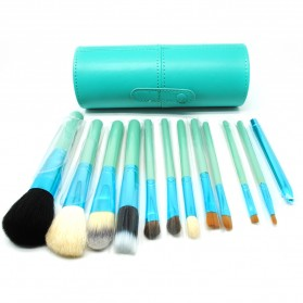 Kuas Make Up 12 Set dengan Case - MAG5171 - Green