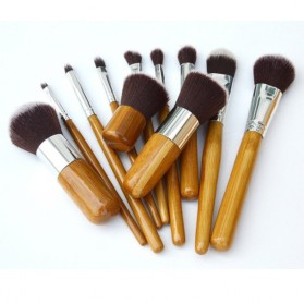 Cosmetic Make Up Brush 11 Set with Pouch / Kuas Make Up - 2
