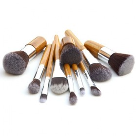 Cosmetic Make Up Brush 11 Set with Pouch / Kuas Make Up - 5