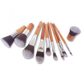 Cosmetic Make Up Brush 11 Set with Pouch / Kuas Make Up - 6